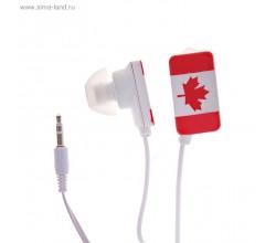 "Наушники вакуумные Luazon ""Флаг Канады"""