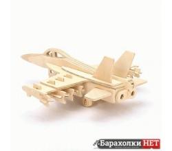 Деревянный 3D пазл модель Истребитель F-18