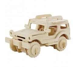 Модель  деревянная Джип 3D