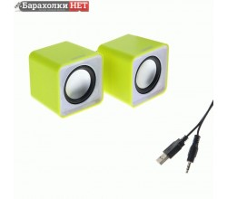 Акустическая система SmartBuy MINI SBA-2820, 2.0, мощность 4Вт, USB, желтые