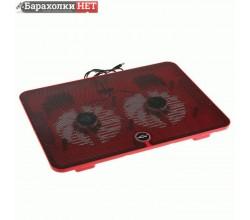 Охлаждающая подставка для ноутбука с LED подсветкой, 2 кулера, красная