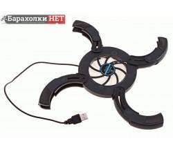 Охлаждающая подставка для ноутбука складная круглая, 1 кулер, 17х7 см, USB