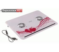 Охлаждающая подставка для ноутбука 2 кулера, USB HUB, 30х23