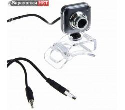 Web-камера CBR CW-834M Black, универс. крепление, 4 линзы, эффекты, микрофон