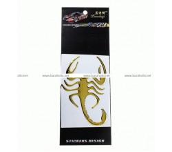 Наклейка на авто Скорпион