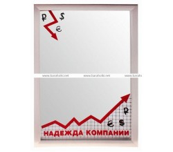 Зеркало подарок менеджеру Надежда компании 21*30 см