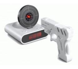 Будильник пистолет с мишенью
