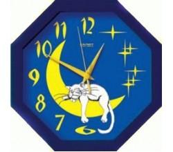 Часы для детей кот на луне