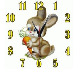 Детские часы - Зайчонок