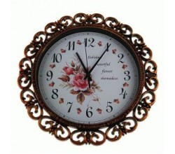 Красивые настенные часы - Розы