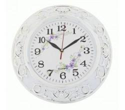 Круглые настенные часы белые