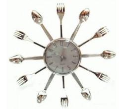 Настенные часы на кухню - Ложки вилки