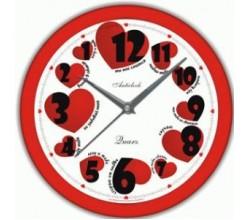 Настенные часы с обратным ходом - Сердечки