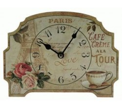 Настольные часы с розами