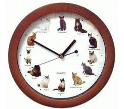Необычные часы - Мяукающие кошки