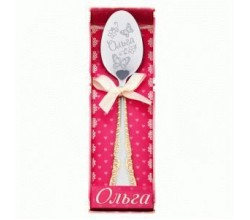 Именная ложка для девочки на крестины Ольга