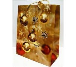 Бумажный новогодний пакет (32,4 х 26 х 12,7 см.)