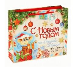 Новогодний пакет (8 х 18 х 23 см.)