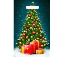 Пакет - Новогодняя елочка (0,1 х 19,5 х 29,5 см.)