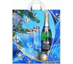 Пакет Новогоднее шампанское (0,1 х 40 х 44 см.)
