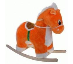 Детская лошадка качалка мягкая