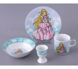 Детский фарфоровый набор посуды