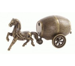 Зажигалка сувенир Лошадь с бочкой пива