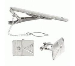 Зажим для галстука под серебро