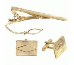 Зажим для галстука золотого цвета