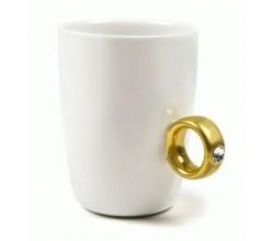 Подарочная кружка - кольцо со стразом
