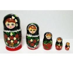 Игрушка матрешка из 5 кукол