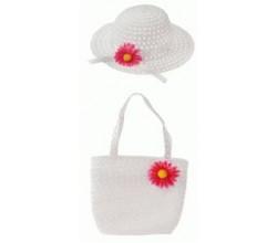 Детская шляпка с цветами