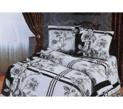 Комплект постельного белья бязь полуторка черно-белое