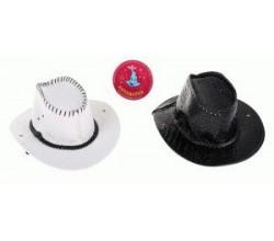 Кожаная ковбойская шляпа