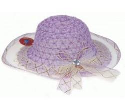 Шляпка для девочки с вуалью