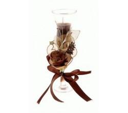 Ароматическая свеча коричневая
