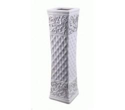 Белая керамическая ваза (60 см.)