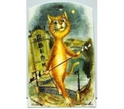 Декоративная доска Кот на прогулке