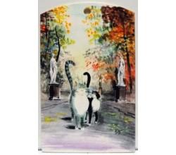Доска для разделки Коты на прогулке