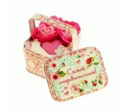 Мыло подарочное - Розы в корзинке