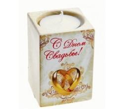 Подсвечник керамический на свадьбу