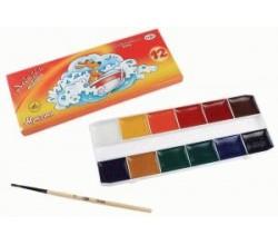 Акварельные краски гамма 12 цветов