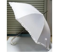 Белый зонт трость на свадьбу
