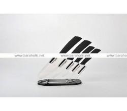 Набор керамических ножей с подставкой 5пр