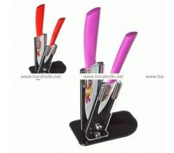 """Набор керамических ножей на подставке """"SATOSHI"""" 2шт"""
